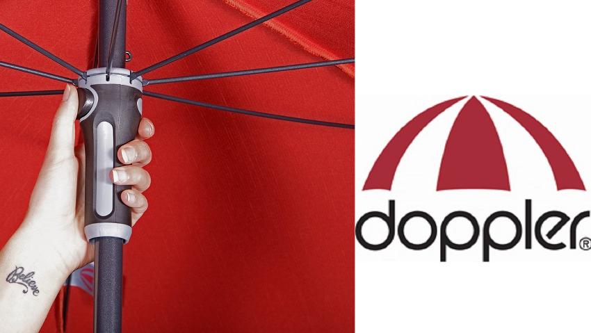 Haltegriff zum Schirmaufspannen der Marke Doppler