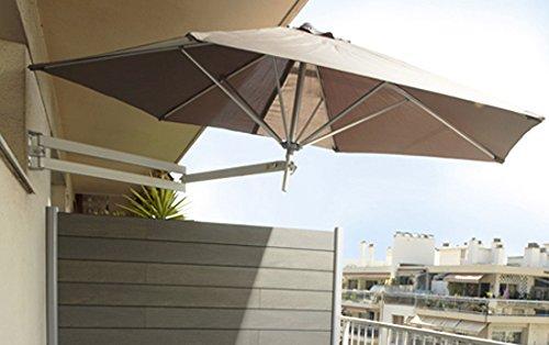 easysol wandschirm sonnenschirm wandtattoo aluminium taupe 250 cm. Black Bedroom Furniture Sets. Home Design Ideas